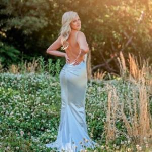 LOVE&LEMONADE Ruched Detail Backless Floor Length Slip Dress