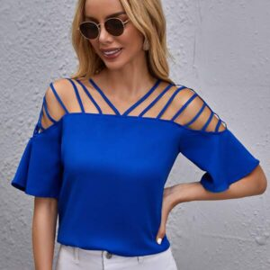Strappy Detail Solid Top
