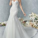 Kenneth Winston Mermaid Sweetheart Strapless Wedding Dress – Vintage / Ivory Silver