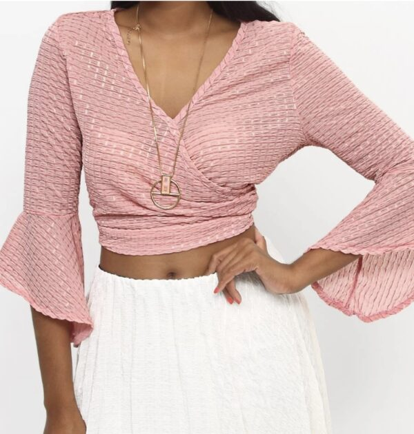 Crossover Top - Pink - Pink / S