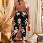 CURVY High Waist Floral Print Leggings – 0XL