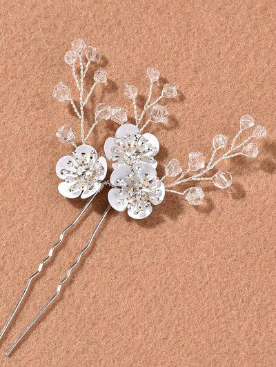 3pcs Flower Decor Hairpin