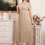 Pleated Glitter Dress