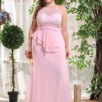 CURVE/PLUS Ruffle Trim Backless Contrast Sequin Dress