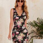 Scallop floral dress