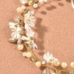 Faux Pearl Decor Wedding Hair Band