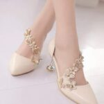 Butterfly Appliques Court Heels