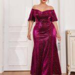 CURVE/PLUS Polka Dot Open Shoulder Dress