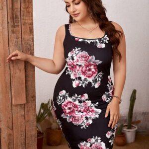 EMERY ROSE Plus Floral Print Bodycon Dress