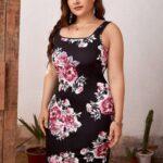 CURVE/PLUS Floral Print Bodycon Dress