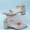 Rhinestone Decor Ankle Strap Glitter Pumps