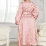 Balloon Sleeve Jacquard Dress
