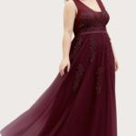 EVER-PRETTY Plus Applique Mesh Prom Dress