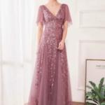 Contrast Sequin Mesh Dress